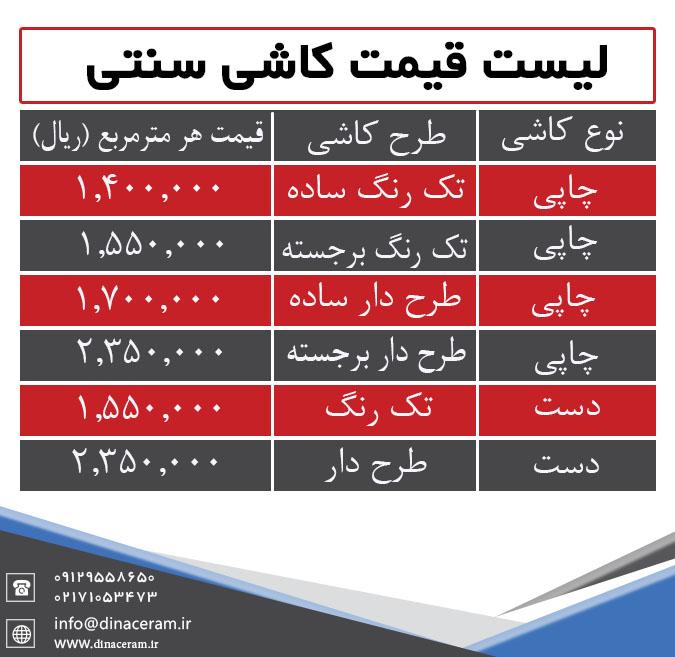 قیمت کاشی هفت رنگ اصفهان